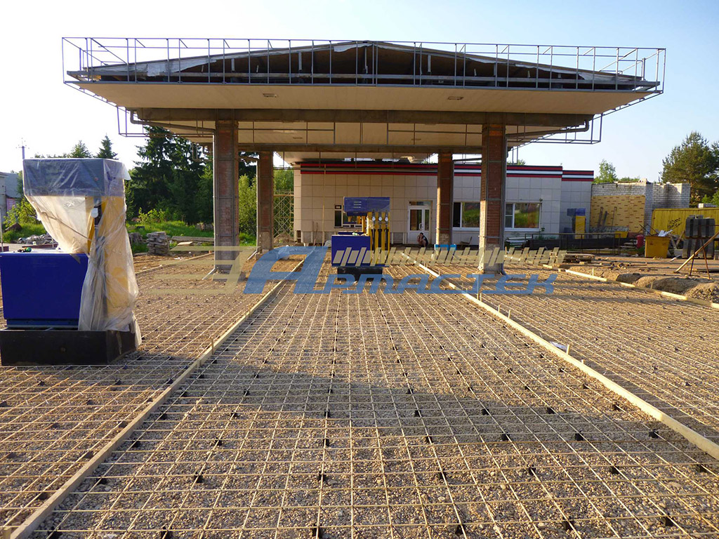 Fuel station reinforcing, Kostroma (Russia)
